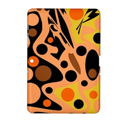 Orange Abstract Decor Samsung Galaxy Tab 2 (10 1 ) P5100 Hardshell Case  by Valentinaart