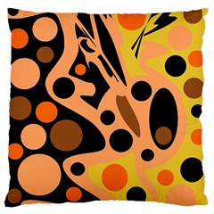 Orange Abstract Decor Standard Flano Cushion Case (one Side) by Valentinaart