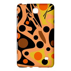 Orange Abstract Decor Samsung Galaxy Tab 4 (8 ) Hardshell Case  by Valentinaart