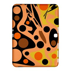 Orange Abstract Decor Samsung Galaxy Tab 4 (10 1 ) Hardshell Case  by Valentinaart