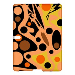 Orange Abstract Decor Samsung Galaxy Tab S (10 5 ) Hardshell Case  by Valentinaart