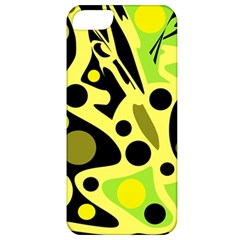 Green Abstract Art Apple Iphone 5 Classic Hardshell Case by Valentinaart
