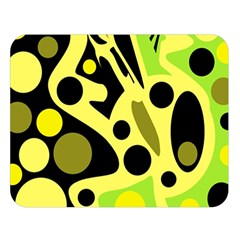 Green Abstract Art Double Sided Flano Blanket (large)  by Valentinaart