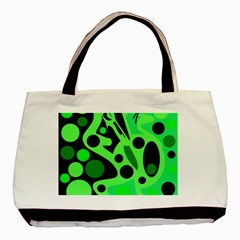 Green Abstract Decor Basic Tote Bag by Valentinaart