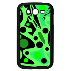 Green Abstract Decor Samsung Galaxy Grand Duos I9082 Case (black) by Valentinaart