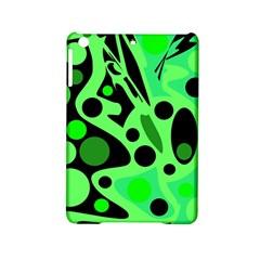 Green Abstract Decor Ipad Mini 2 Hardshell Cases by Valentinaart