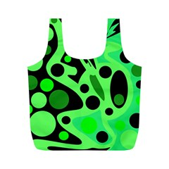 Green Abstract Decor Full Print Recycle Bags (m)  by Valentinaart