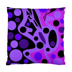 Purple Abstract Decor Standard Cushion Case (two Sides) by Valentinaart