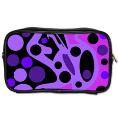 Purple Abstract Decor Toiletries Bags 2 Side by Valentinaart