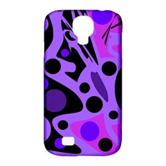 Purple Abstract Decor Samsung Galaxy S4 Classic Hardshell Case (pc+silicone) by Valentinaart