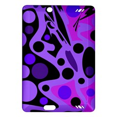 Purple Abstract Decor Amazon Kindle Fire Hd (2013) Hardshell Case by Valentinaart