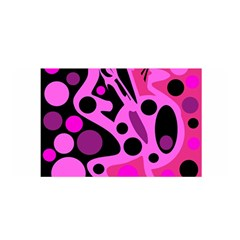 Pink Abstract Decor Satin Wrap by Valentinaart
