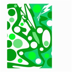 White And Green Decor Small Garden Flag (two Sides) by Valentinaart