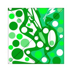 White And Green Decor Acrylic Tangram Puzzle (6  X 6 ) by Valentinaart