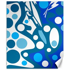 Blue And White Decor Canvas 8  X 10  by Valentinaart