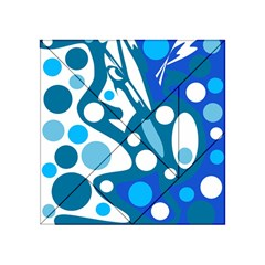 Blue And White Decor Acrylic Tangram Puzzle (4  X 4 ) by Valentinaart