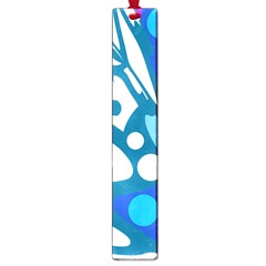 Blue And White Decor Large Book Marks by Valentinaart
