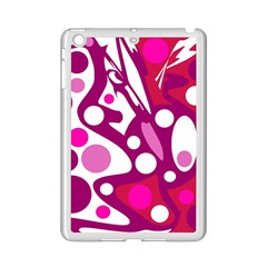 Magenta And White Decor Ipad Mini 2 Enamel Coated Cases by Valentinaart