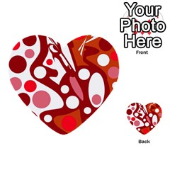 Red And White Decor Multi Purpose Cards (heart)  by Valentinaart