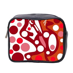 Red And White Decor Mini Toiletries Bag 2 Side by Valentinaart
