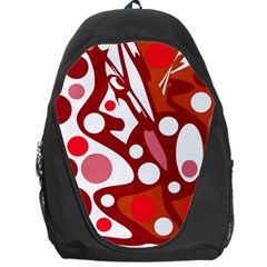 Red And White Decor Backpack Bag by Valentinaart
