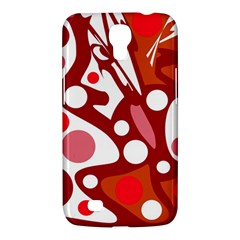 Red And White Decor Samsung Galaxy Mega 6 3  I9200 Hardshell Case by Valentinaart