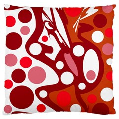 Red And White Decor Standard Flano Cushion Case (two Sides) by Valentinaart