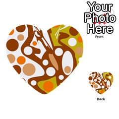 Orange And White Decor Multi Purpose Cards (heart)  by Valentinaart