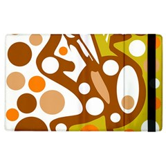 Orange And White Decor Apple Ipad 2 Flip Case by Valentinaart