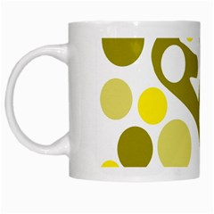 Green And Yellow Decor White Mugs by Valentinaart