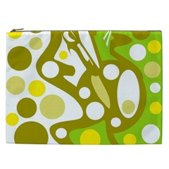 Green and yellow decor Cosmetic Bag (XXL)