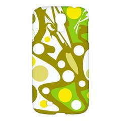 Green And Yellow Decor Samsung Galaxy S4 I9500/i9505 Hardshell Case by Valentinaart