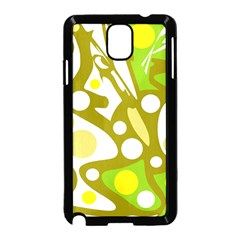 Green And Yellow Decor Samsung Galaxy Note 3 Neo Hardshell Case (black) by Valentinaart