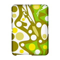 Green and yellow decor Amazon Kindle Fire (2012) Hardshell Case by Valentinaart