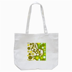 Green And Yellow Decor Tote Bag (white) by Valentinaart