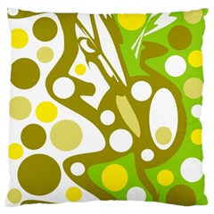 Green And Yellow Decor Standard Flano Cushion Case (two Sides) by Valentinaart