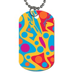Colorful Decor Dog Tag (two Sides) by Valentinaart