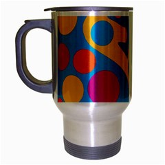 Colorful decor Travel Mug (Silver Gray) by Valentinaart