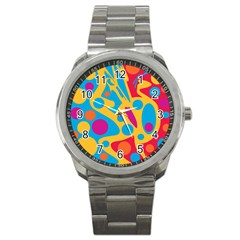 Colorful Decor Sport Metal Watch by Valentinaart