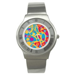 Colorful Decor Stainless Steel Watch by Valentinaart