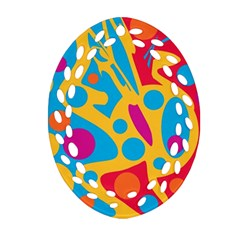 Colorful Decor Ornament (oval Filigree)  by Valentinaart
