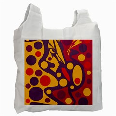 Colorful Chaos Recycle Bag (two Side)  by Valentinaart