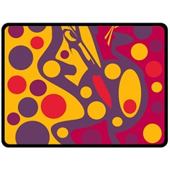 Colorful Chaos Fleece Blanket (large)  by Valentinaart