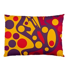 Colorful Chaos Pillow Case (two Sides) by Valentinaart