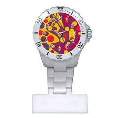 Colorful Chaos Plastic Nurses Watch by Valentinaart
