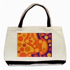 Orange And Blue Decor Basic Tote Bag (two Sides) by Valentinaart