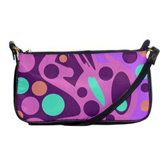 Purple And Green Decor Shoulder Clutch Bags by Valentinaart