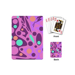 Purple And Green Decor Playing Cards (mini)  by Valentinaart