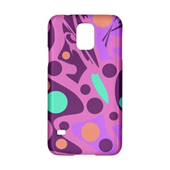 Purple And Green Decor Samsung Galaxy S5 Hardshell Case  by Valentinaart