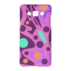 Purple And Green Decor Samsung Galaxy A5 Hardshell Case  by Valentinaart